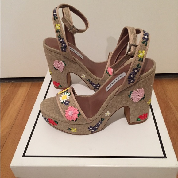 aa09d1214b2b Tabitha Simmons Platform Sandals - Size 38 IT US 8